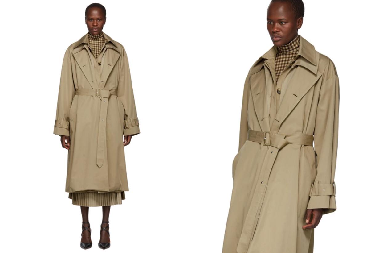 Beige Triple Trench Coat
