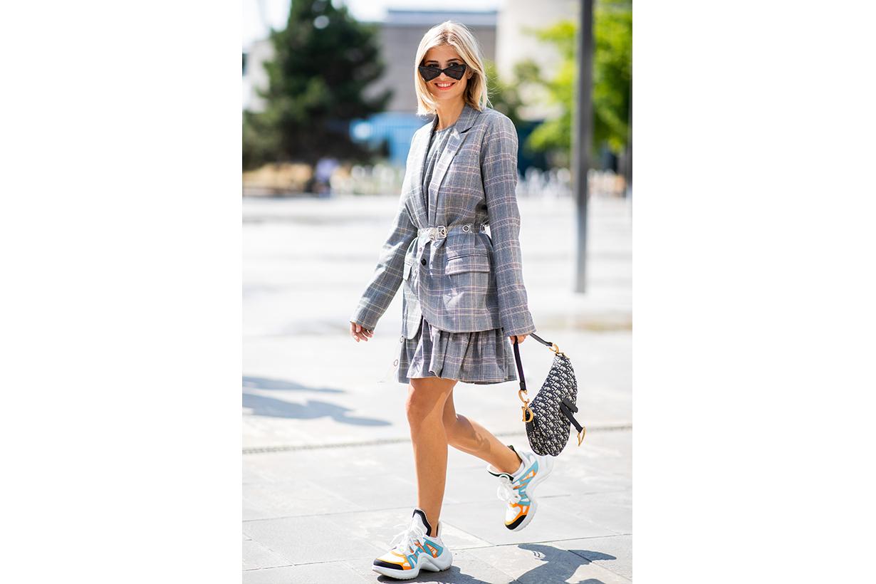 Dad Sneakers Suit Street Style