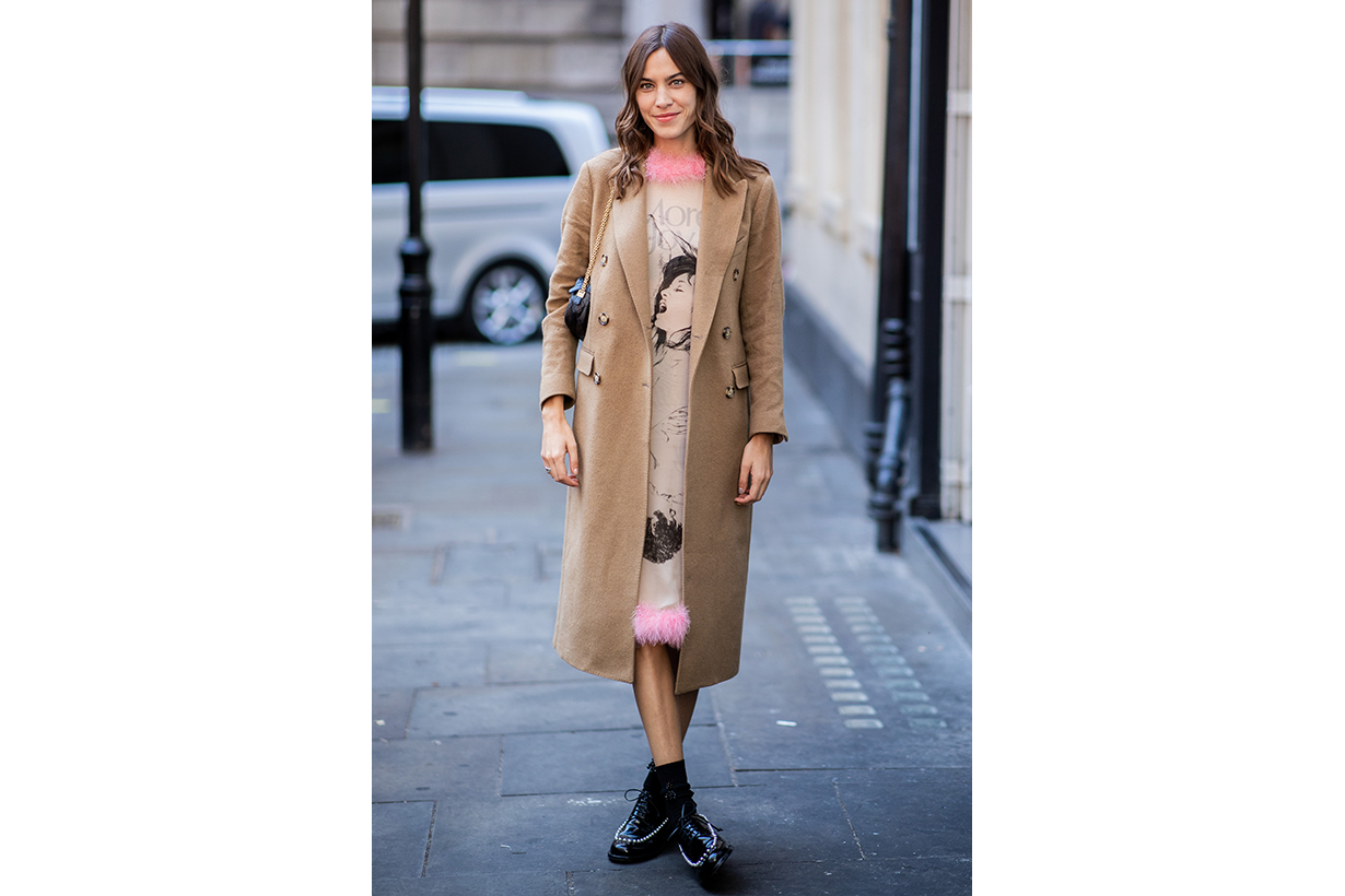 Alexa Chung Oxford Shoes Street Style