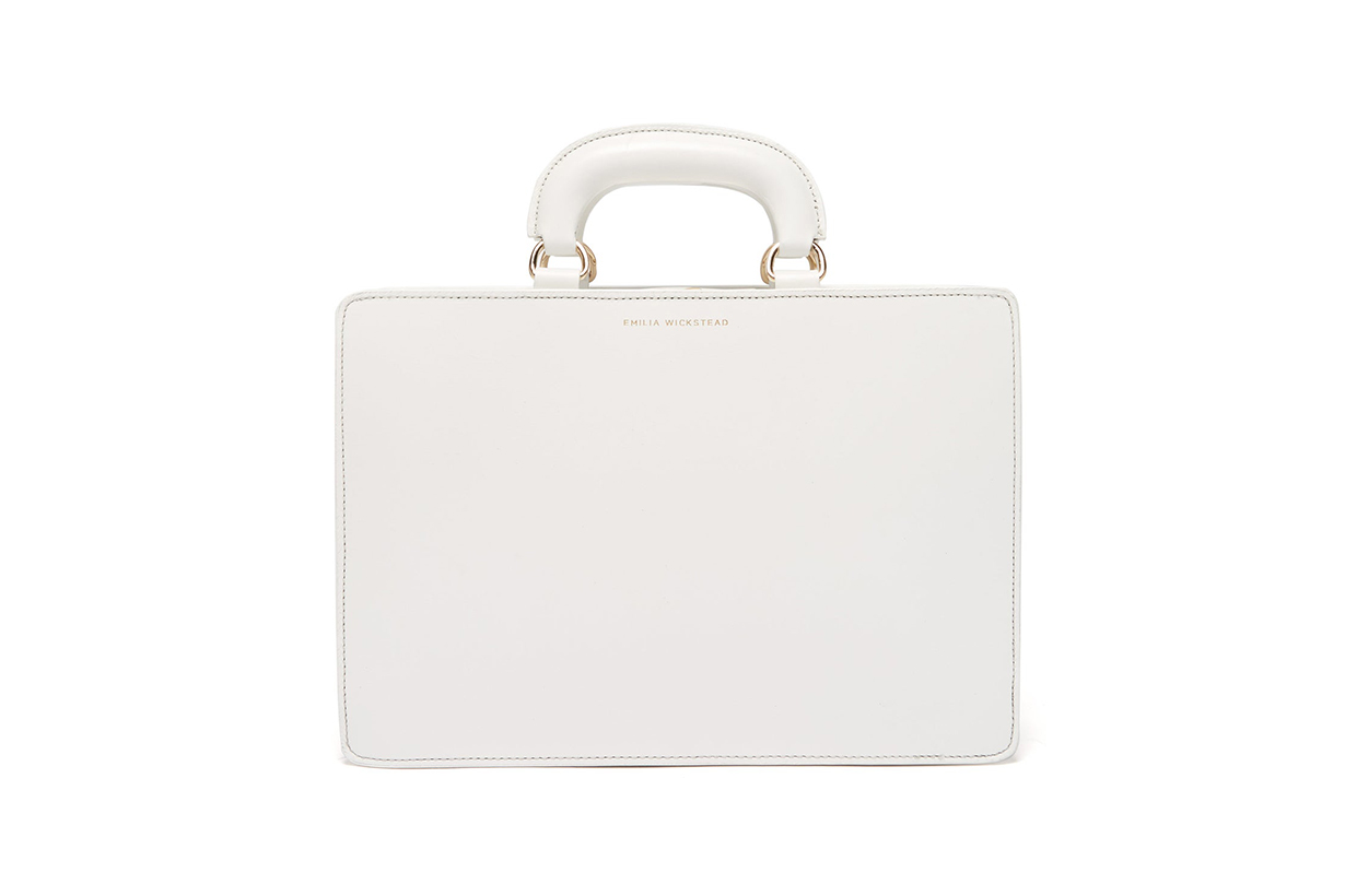 Briefcase-Style Leather Bag