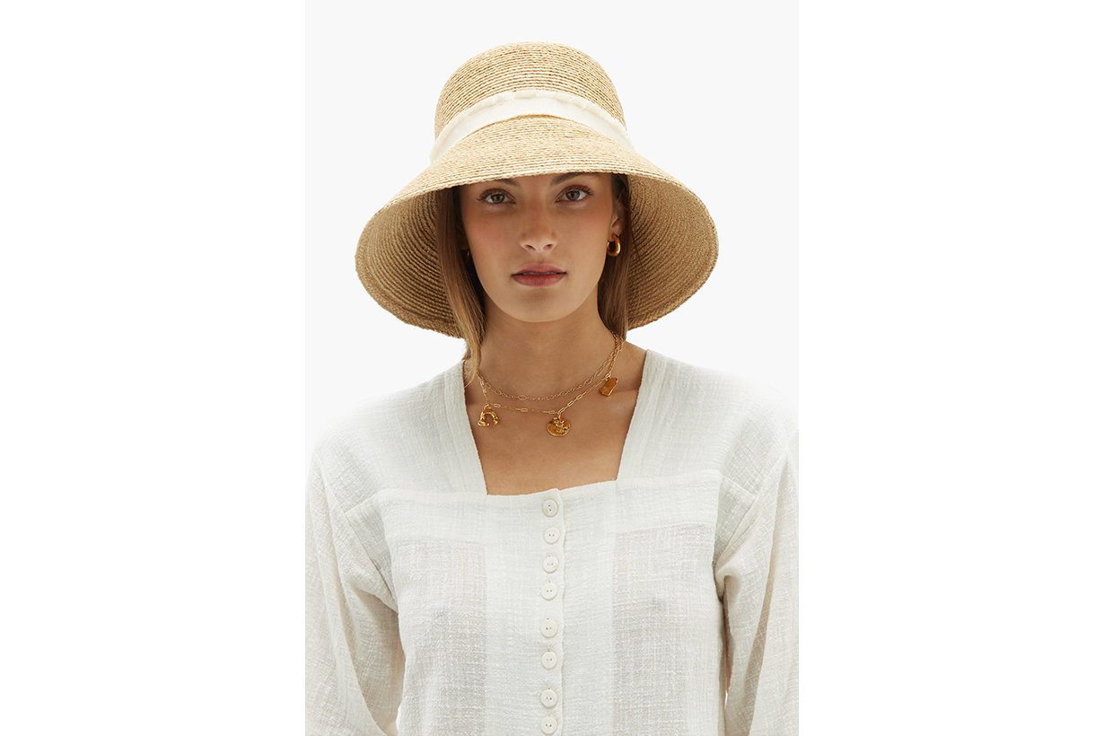 Heidi Klein Cape Elizabeth Raffia Bucket Hat