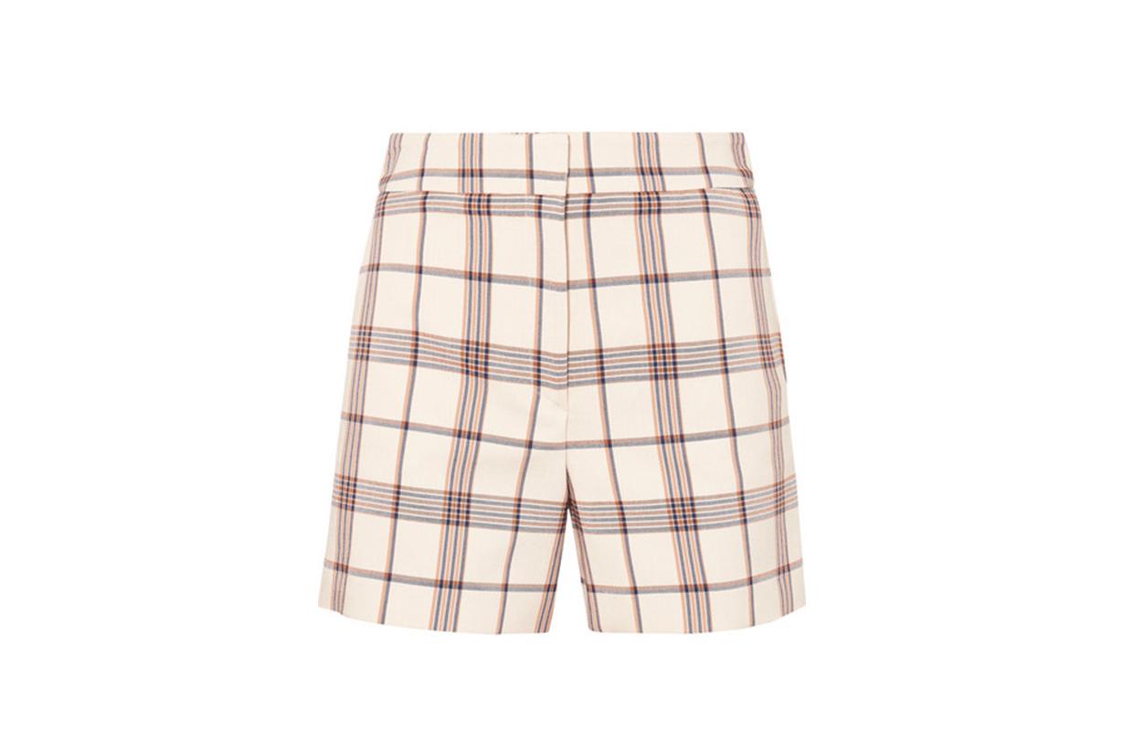 Maje Checked Twill Shorts