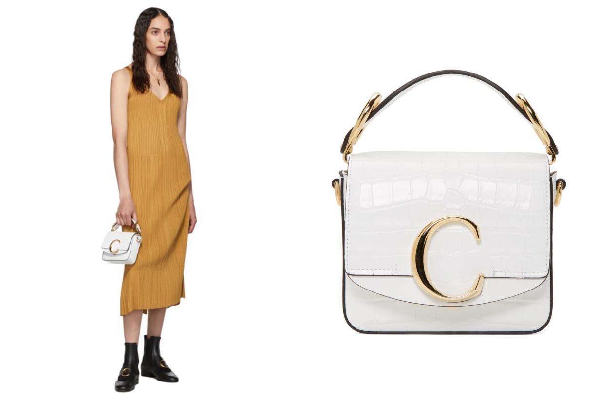 Chloé White Mini 'Chloé C' Bag