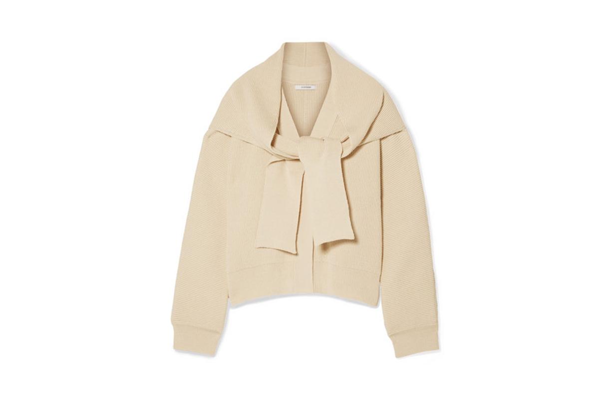 Convertible Ribbed Cotton Cardigan