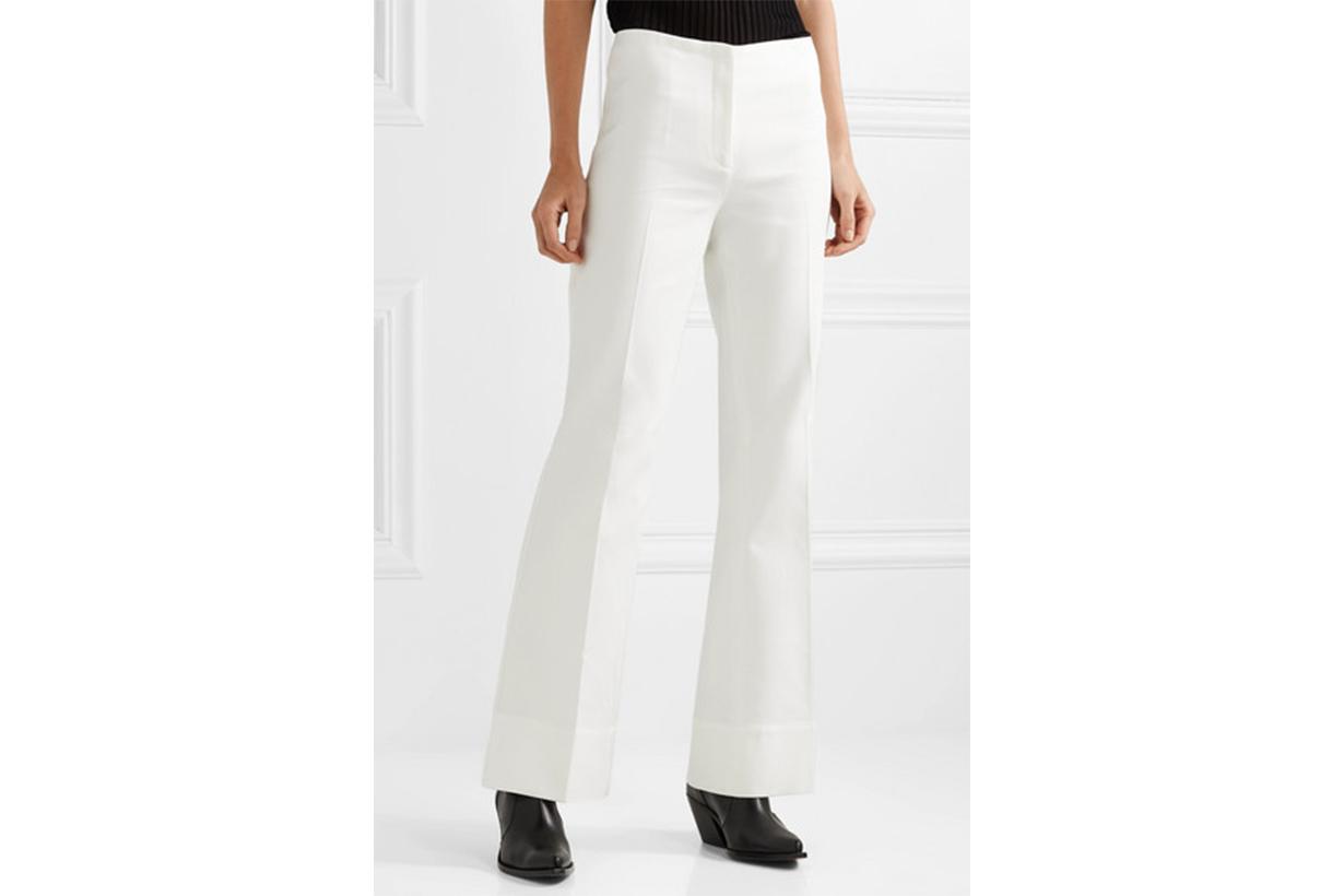 By Malene Birger Cotton-Blend Twill Straight-Leg Pants
