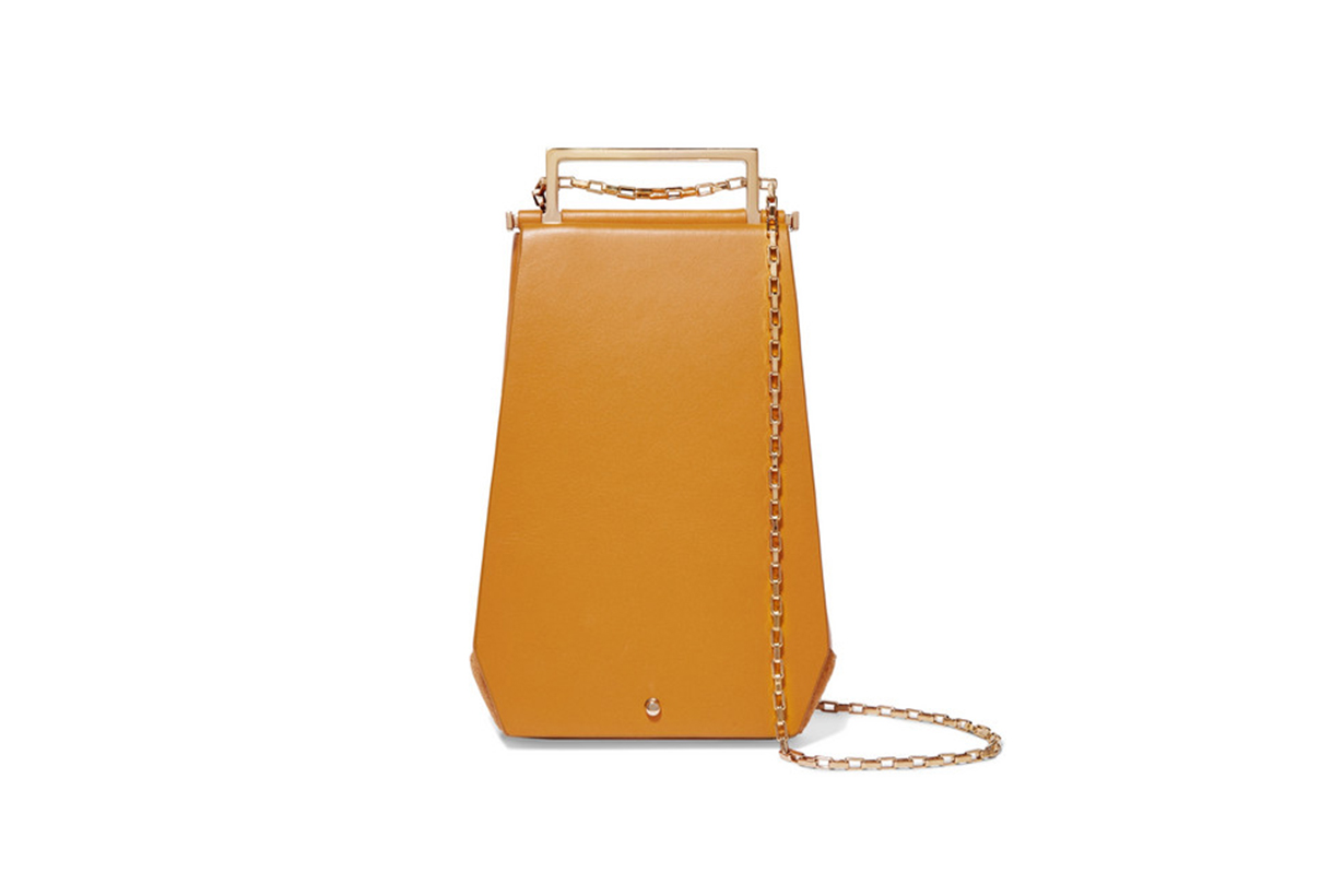Eloine Mini Auede and Textured-Leather Shoulder Bag