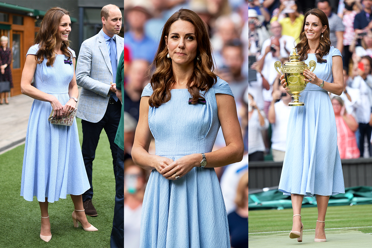 Kate Middleton Attends Wimbledon 2019