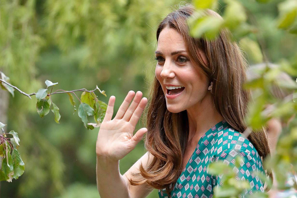 Kate Middleton Garden midi printed Dress