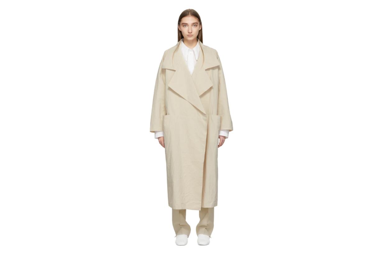 Lauren Manoogian Beige Paper Trench Coat