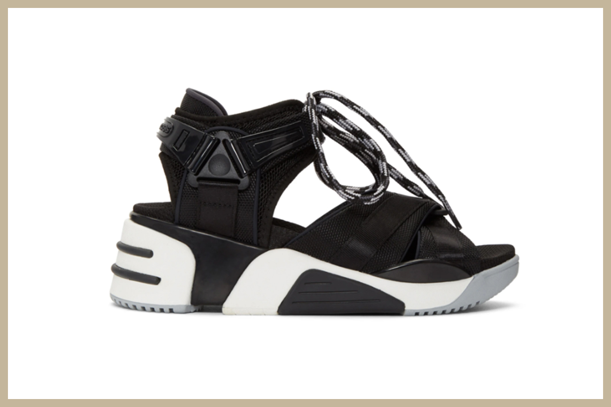 Marc Jacobs Black Somewhere Sport Sandals