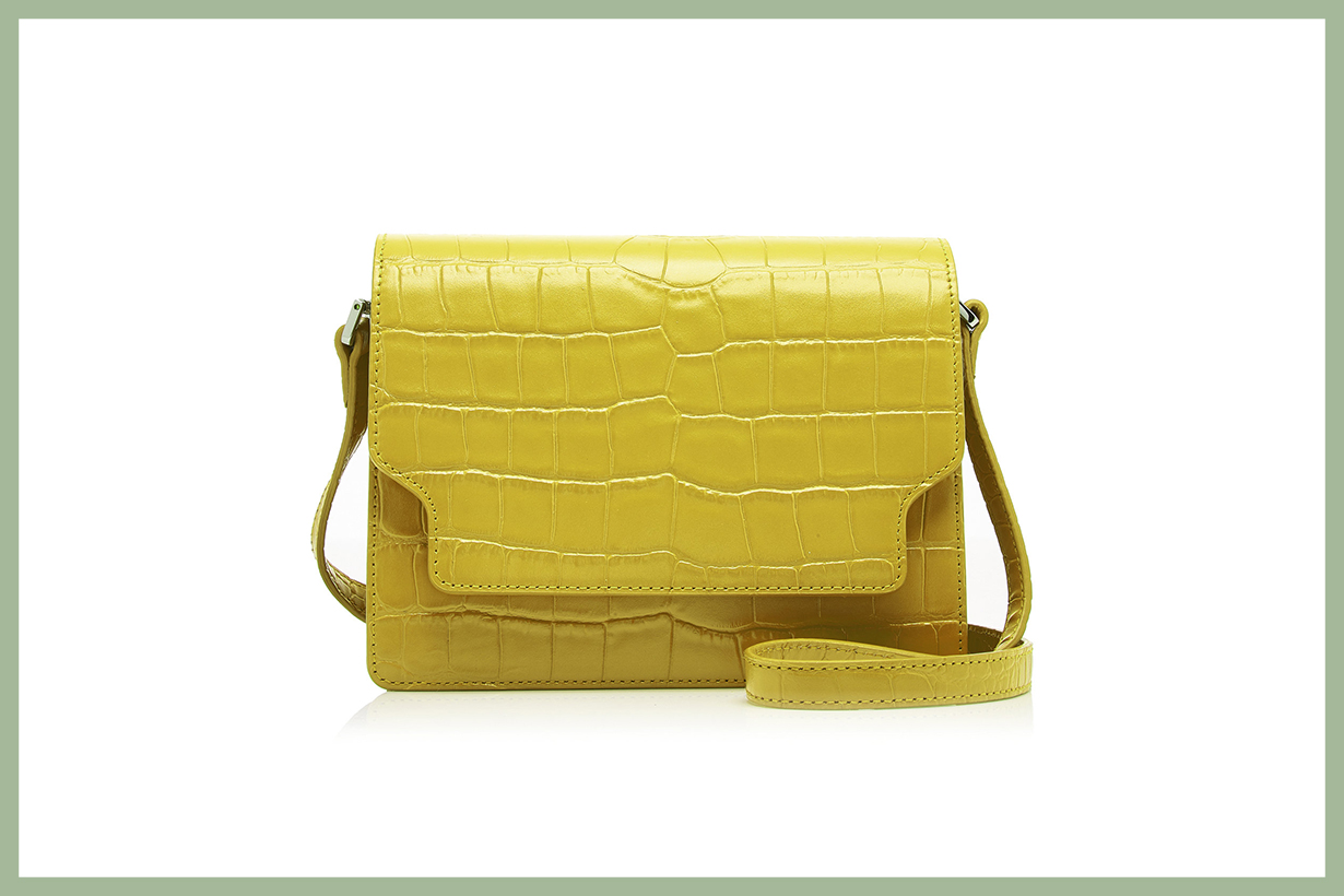 Marge Sherwood Brick Croc-Effect Leather Shoulder Bag