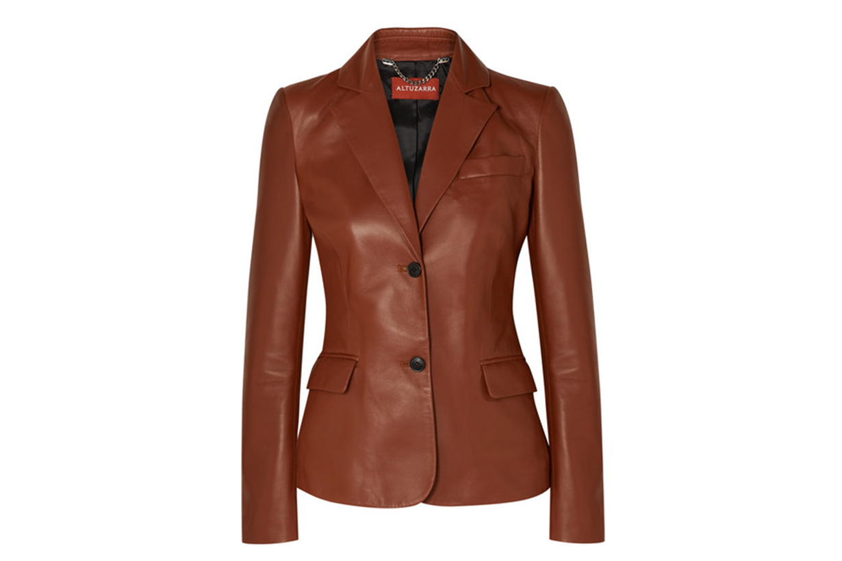 Marilyn Leather Blazer