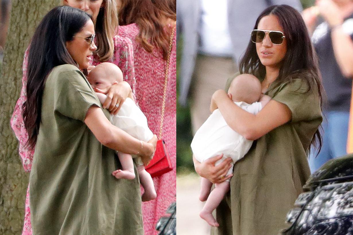 Meghan Markle Holds Archie On Prince Harry's polo match