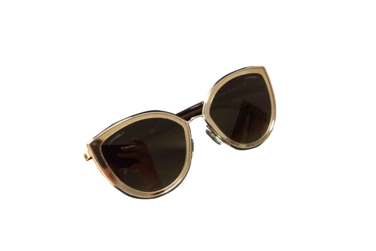 Metallic Metal Chanel Sunglasses