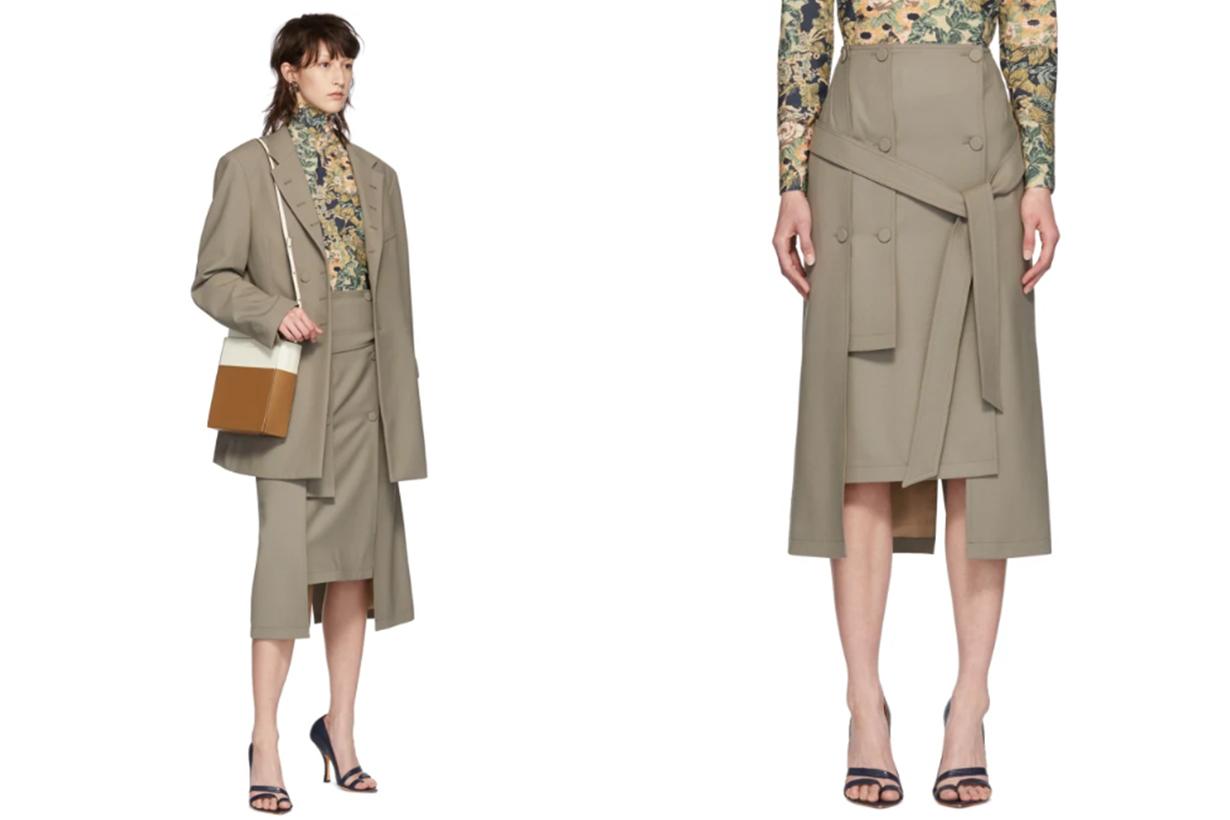 Rokh Beige Layer Skirt
