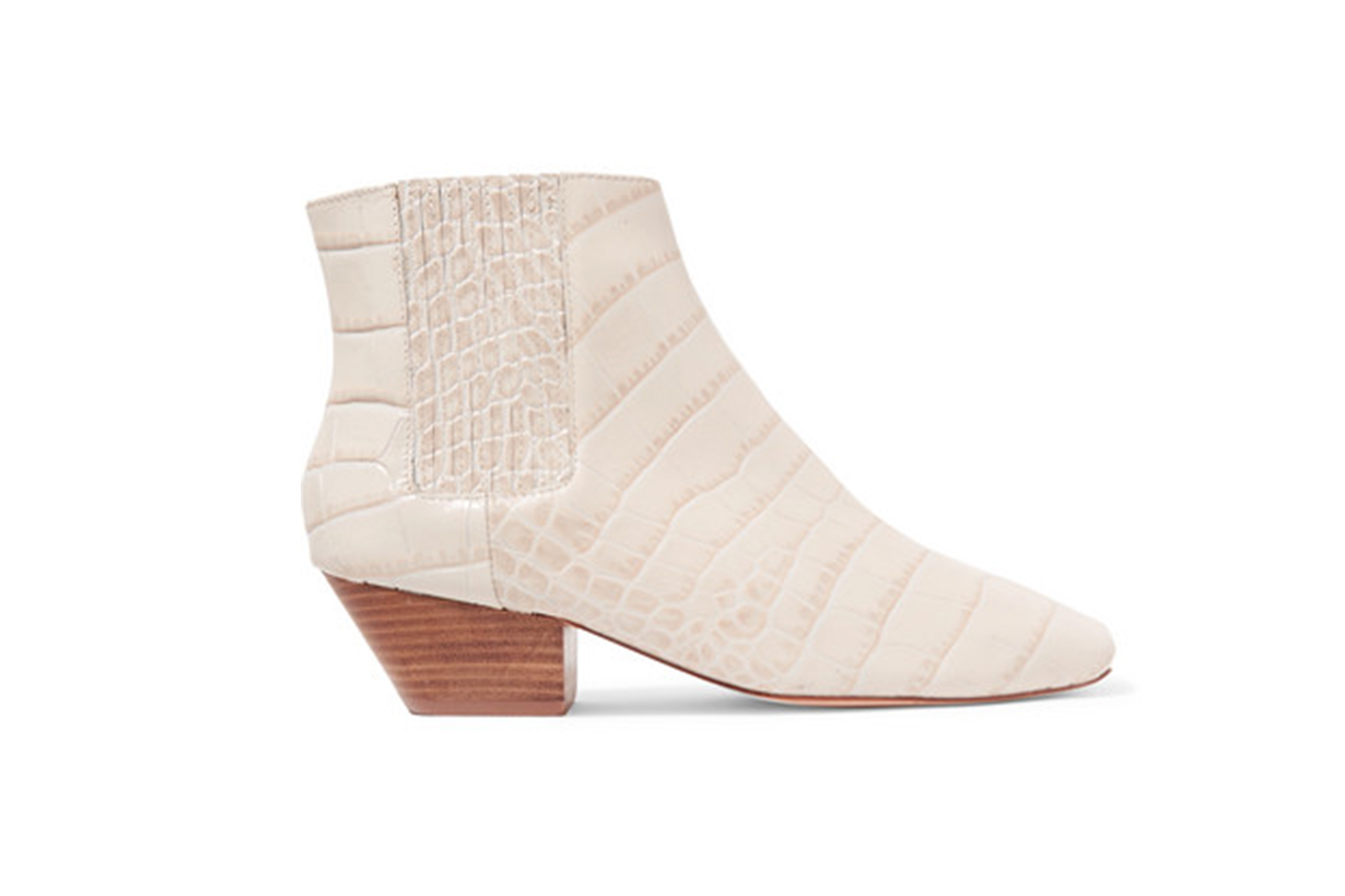 Salsa Croc-Effect Leather Ankle Boots