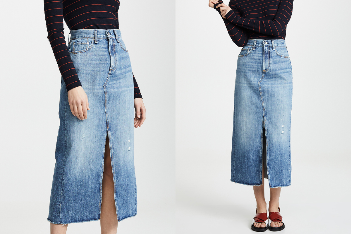 Jean Skirt Outfits Are Back