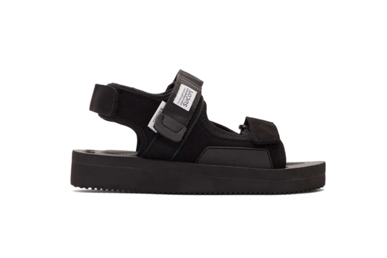 Suicoke Black WAS-V Sandals