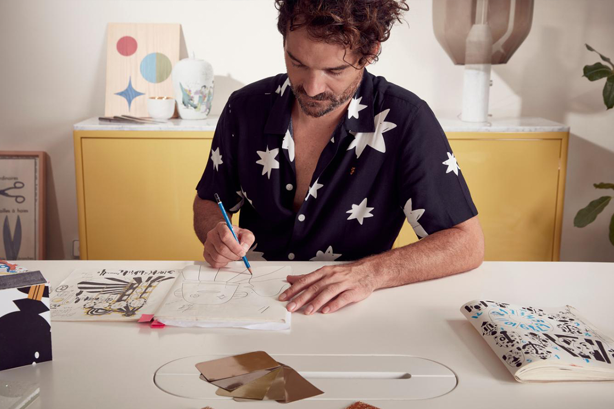 Artist Jaime Hayon in studio