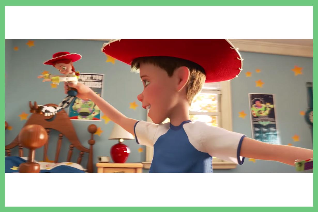 Toy Story 4 trailer fan theories Andy's Son Jesse Buzz Lightyear Woody Toys disney pixar movie