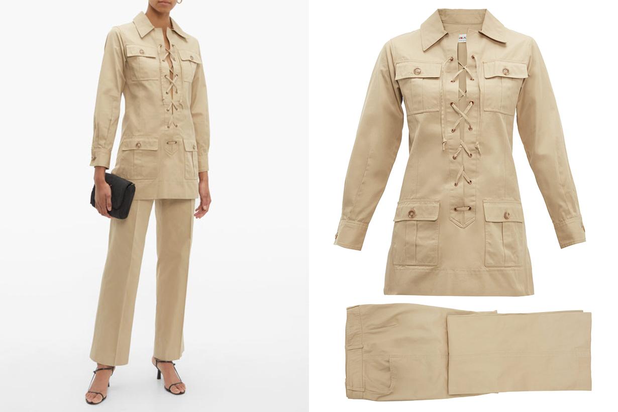 Yves Saint Laurent 1968 Safari Gabardine Suit