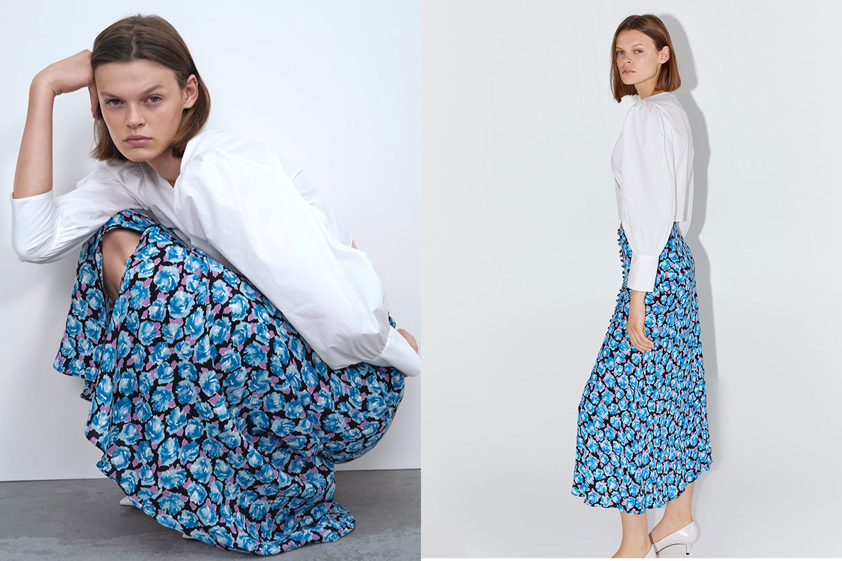zara-floral-skirt