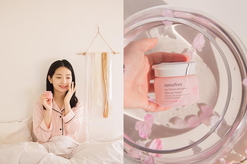 innisfree Jeju Cherry Blossom Tone-up Cream Eyeshadow Palette