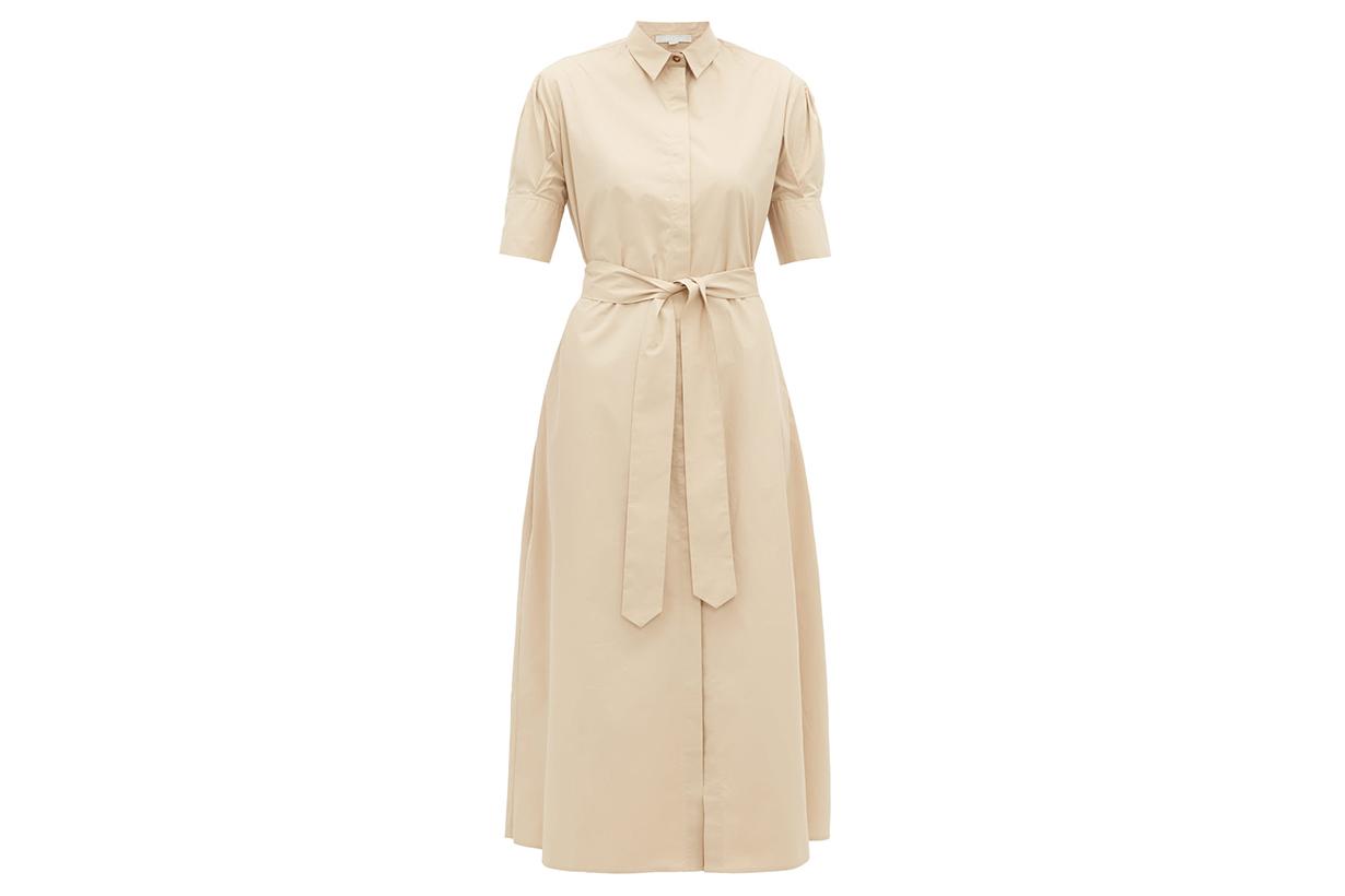 Antonia Belted Cotton Shirtdress