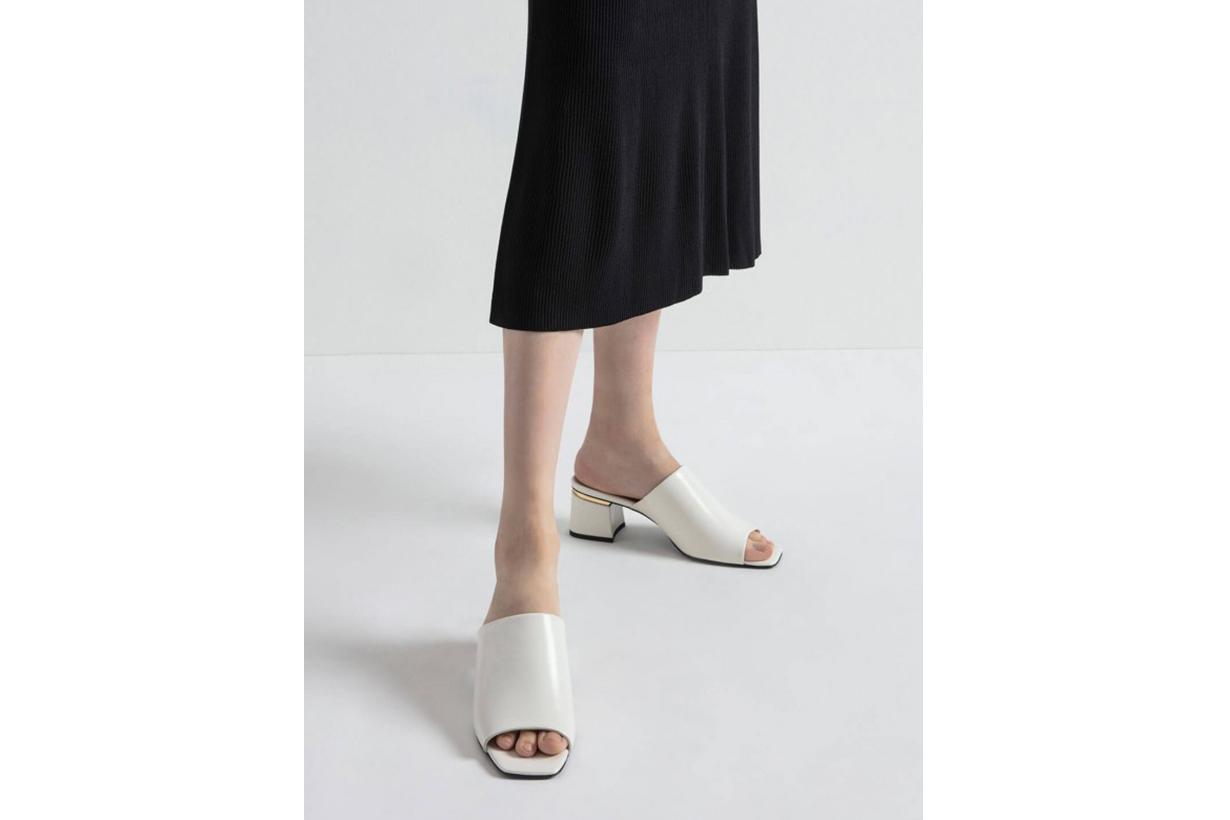Block Heel Slide Sandals