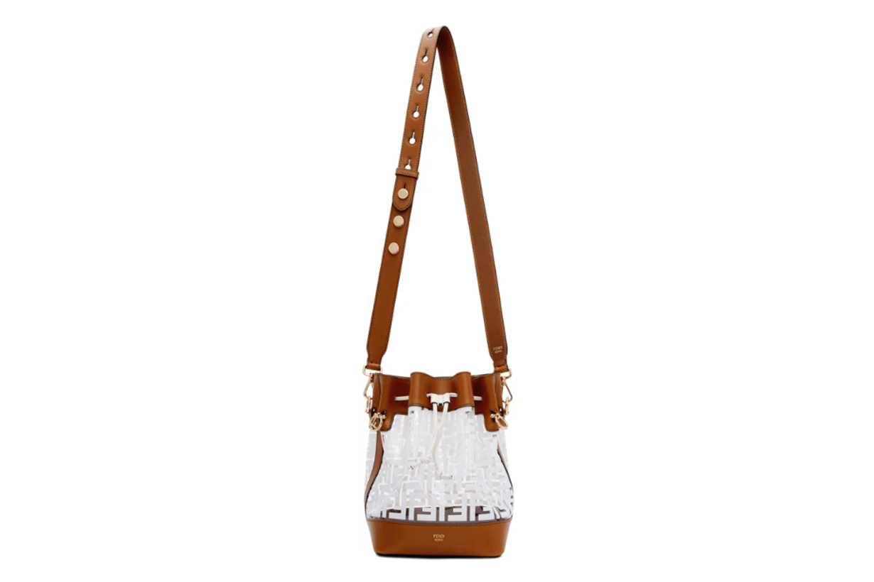 Fendi White & Brown 'Forever Fendi' Mon Trésor Bag