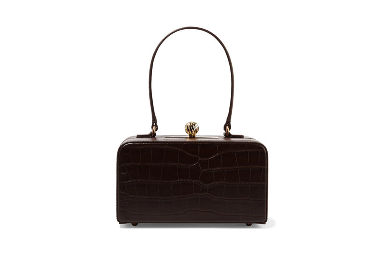 Fey in the 50s Croc-Effect Leather Tote