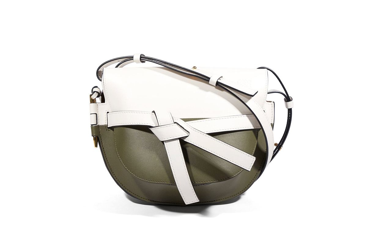Gate Mini Colour-Block Leather Cross-Body Bag