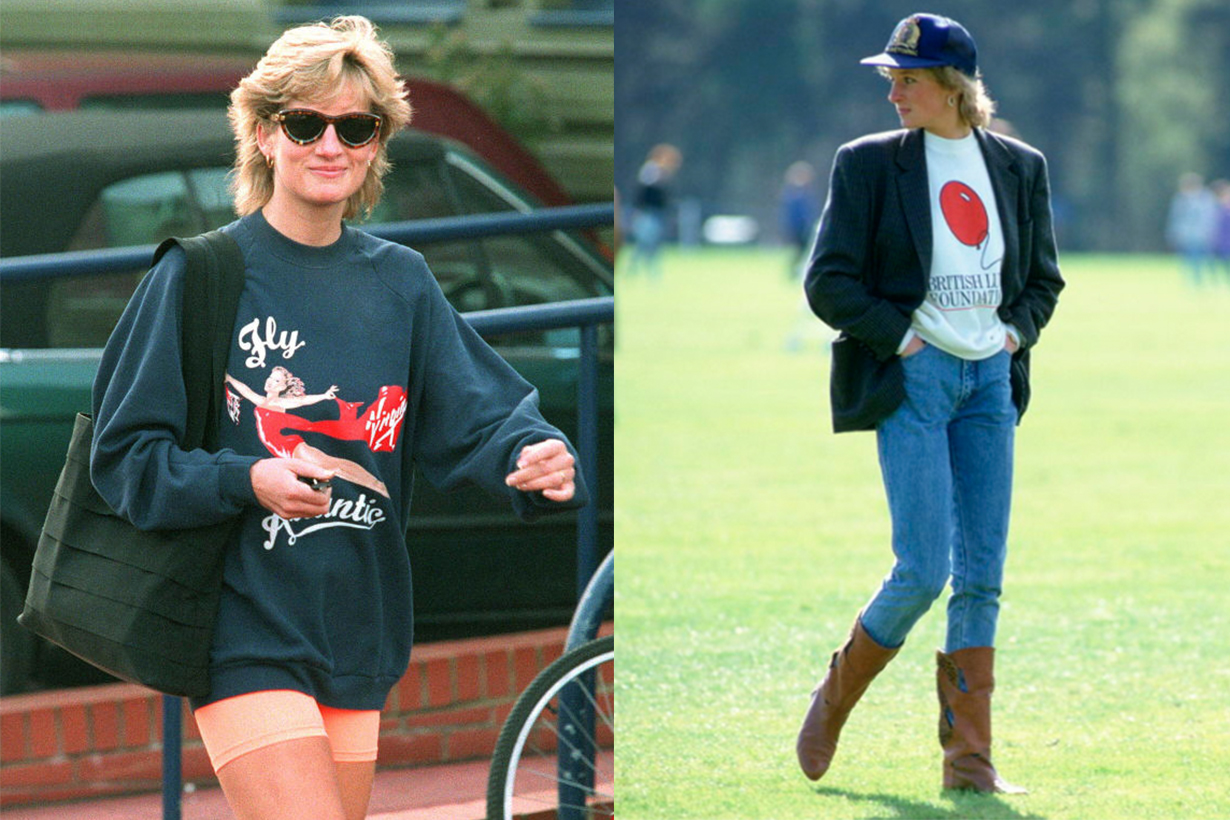 Princess Diana Sporty Look