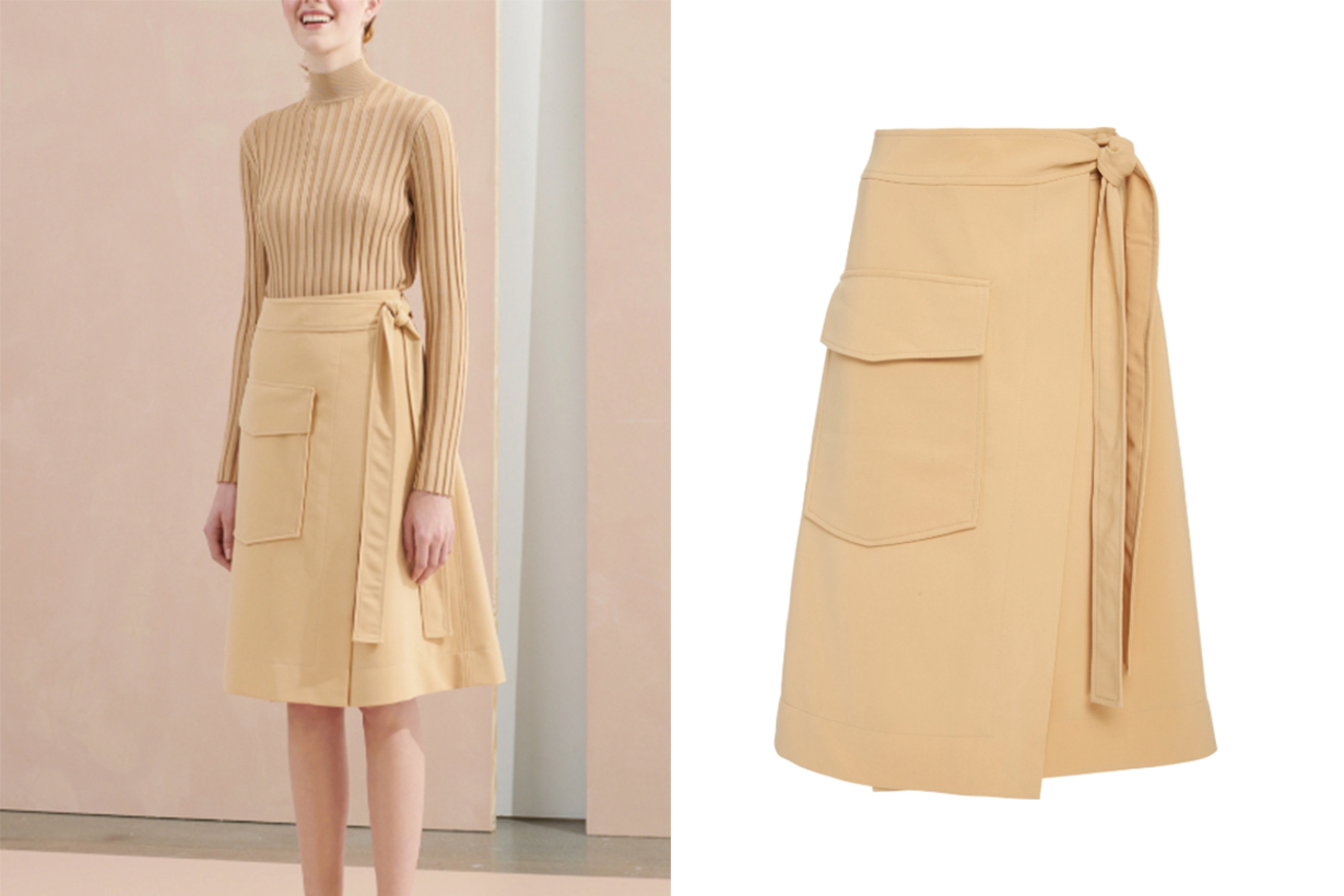 Luella Belted Midi Skirt