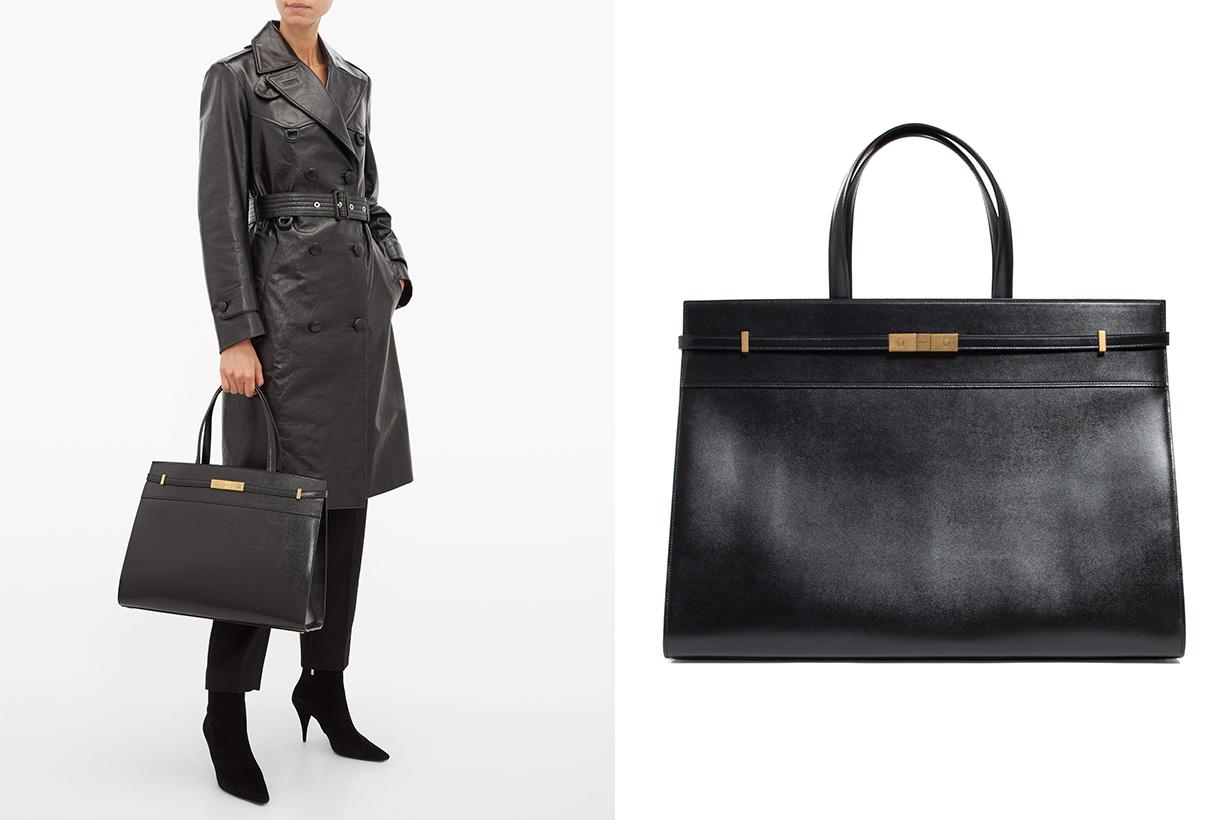 Manhattan Medium Leather Tote Bag