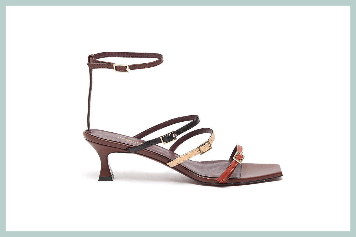 MANU Atelier Naomi Colourblock Strappy Leather Sandals