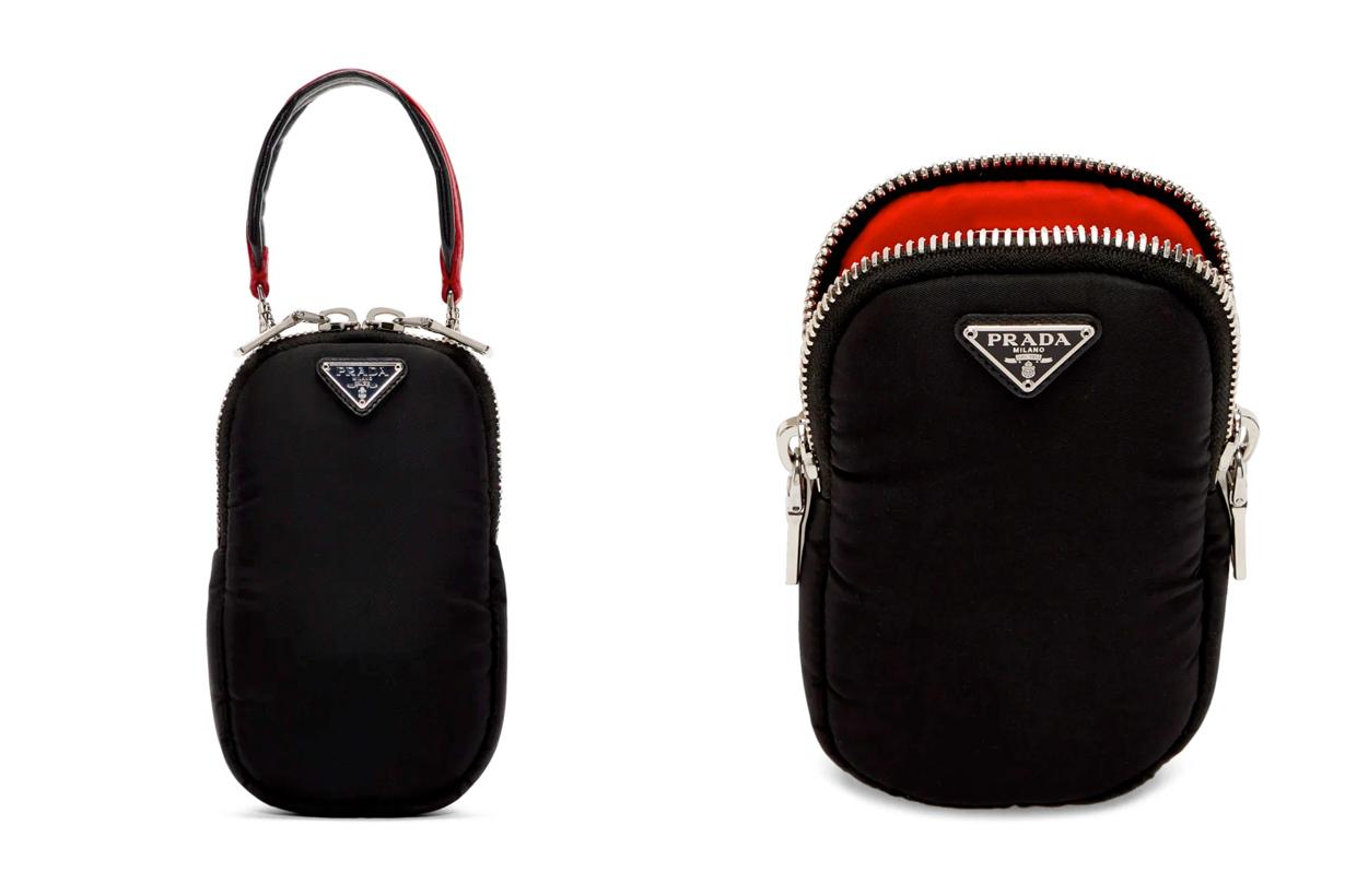 prada iphone case nylon bag shopping acc