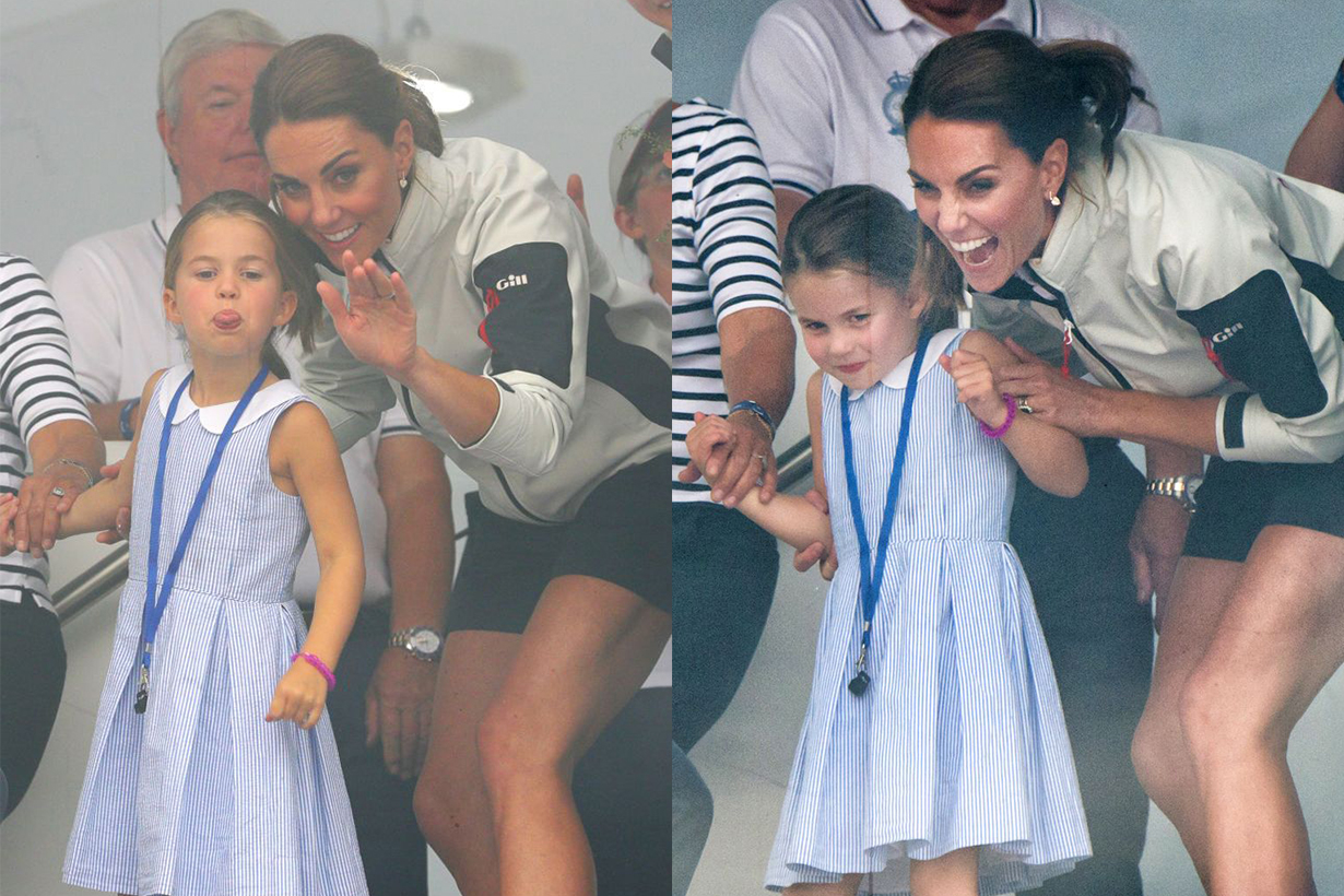 Princess Charlotte Stuck Out Her Tongue at Fans and Kate Middleton's Reaction