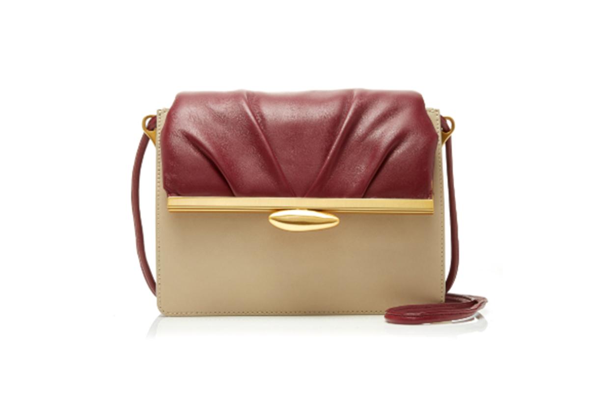 Reike Nen Pebble Color-Block Leather Shoulder Bag