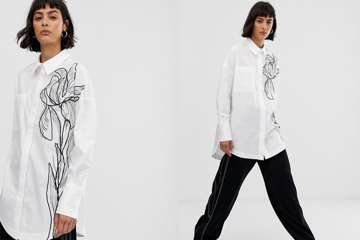 Sketch Print Floral Shirt