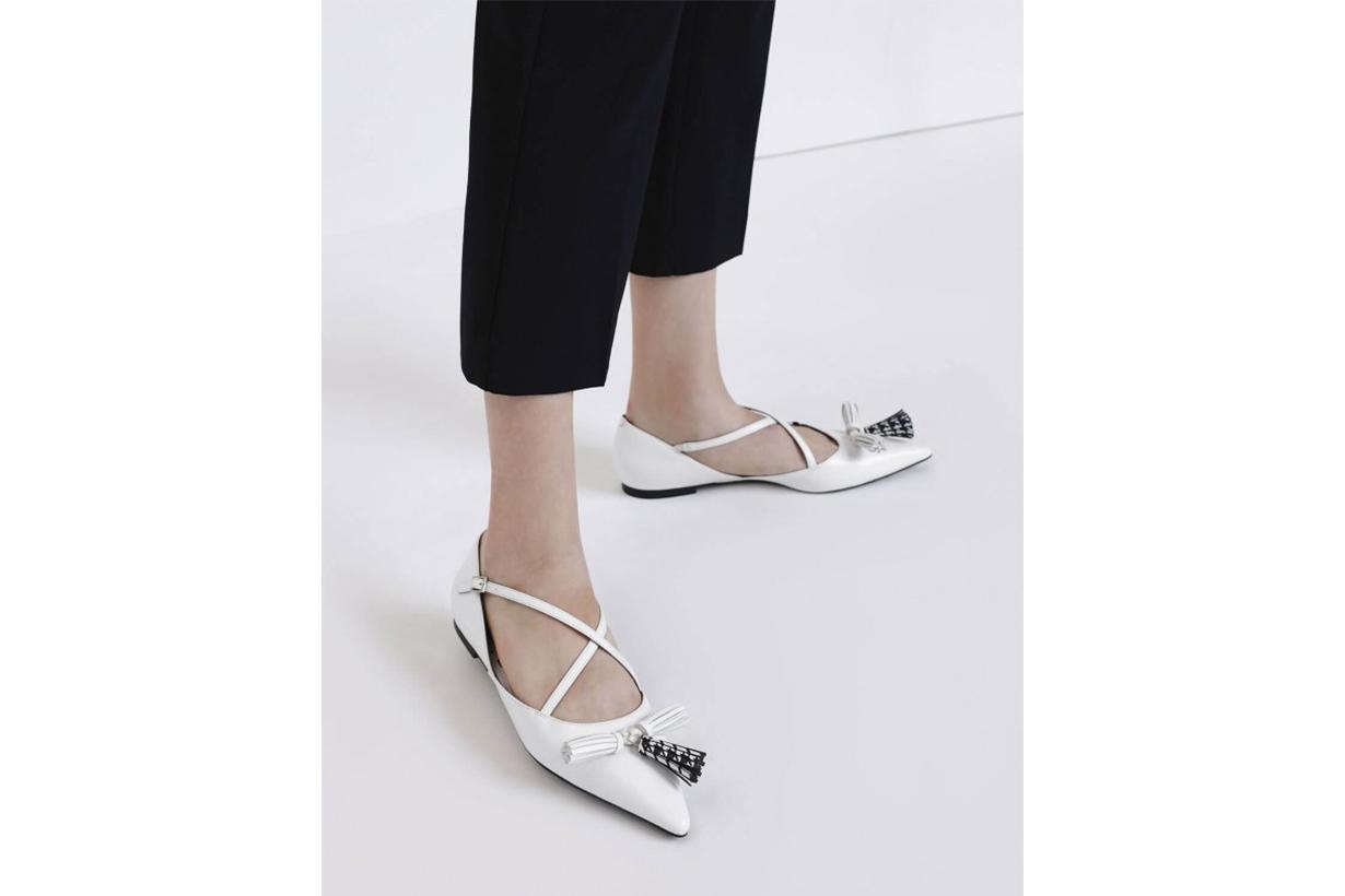 Tassel Criss Cross Ballerina Flats