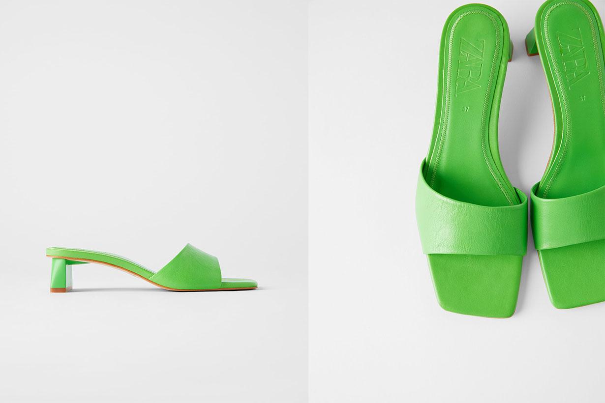 Zara-Green-Sandals