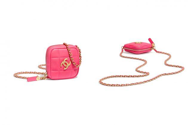 chanel 2020 fw coin purse belt chain arm