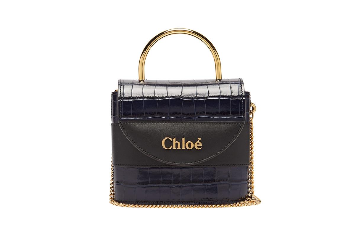 Aby Lock Crocodile-Effect Leather Cross-Body Bag