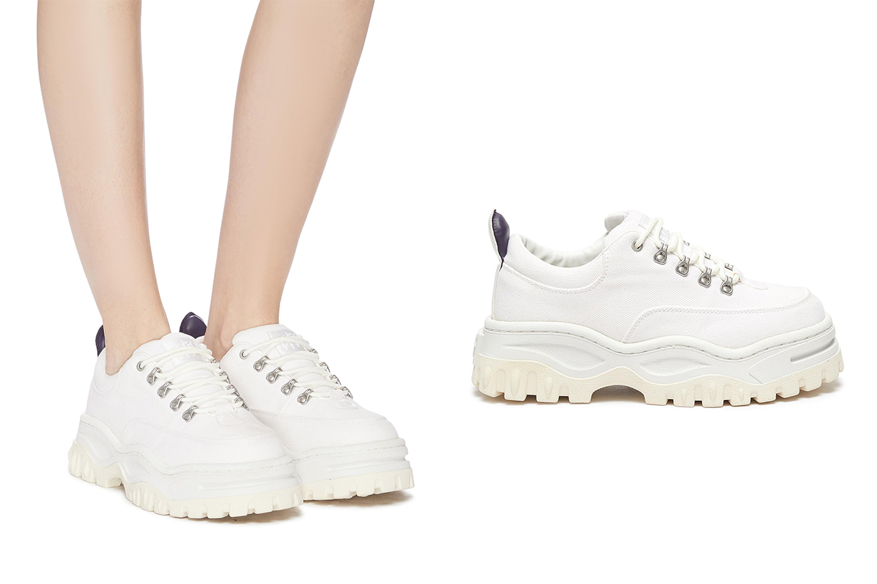 Angel Chunky Outsole Canvas Sneakers