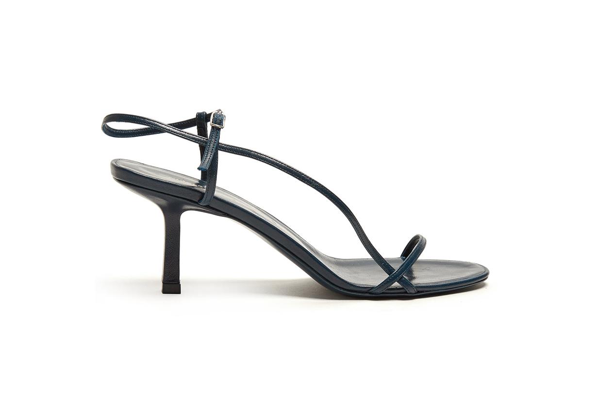 Bare Mid-Heel Slingback Sandals