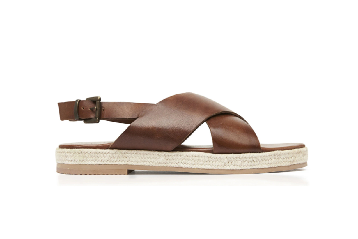 Basque Leather Espadrille Sandals