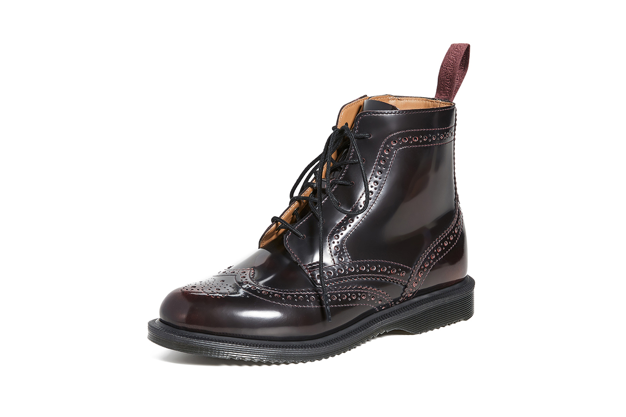 Delphine 6 Eye Brogue Boots