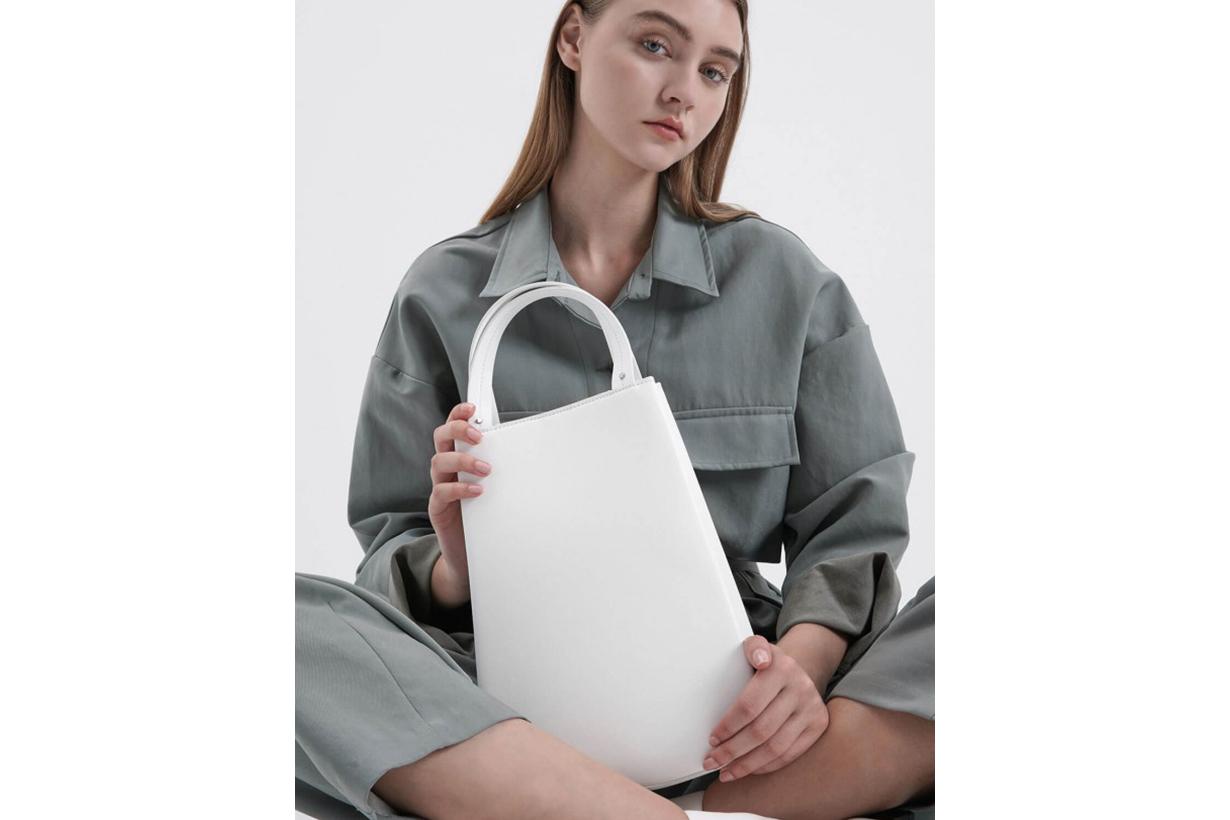 Elongated Top Handle Bag