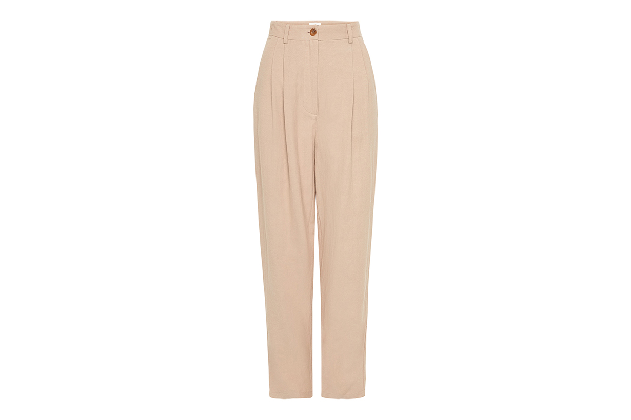 Evon Linen-Blend Trousers